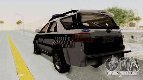 Toyota Fortuner JPJ White pour GTA San Andreas laissé vue