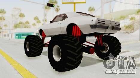 Pontiac Firebird 400 1968 Monster Truck pour GTA San Andreas laissé vue