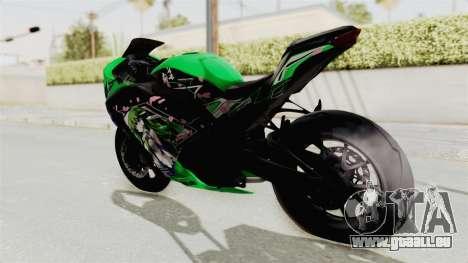 Kawasaki Ninja 250FI Kochiya Sanae Itasha pour GTA San Andreas laissé vue