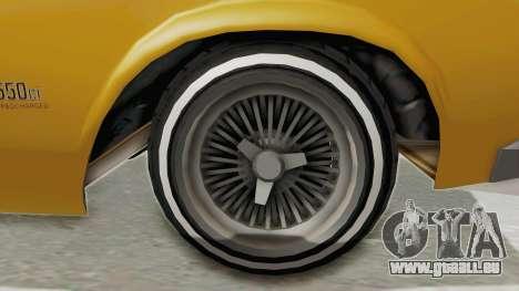 GTA 5 Declasse Sabre GT2 B IVF pour GTA San Andreas vue arrière