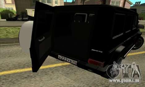 Mercedes G55 Kompressor für GTA San Andreas Unteransicht