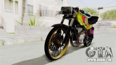 Yamaha RX King 200 CC Killing Ninja pour GTA San Andreas