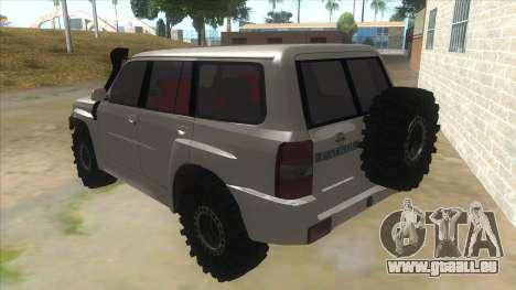 Nissan Patrol Y61 pour GTA San Andreas sur la vue arrière gauche