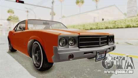 GTA 5 Declasse Sabre GT2 B pour GTA San Andreas vue de droite