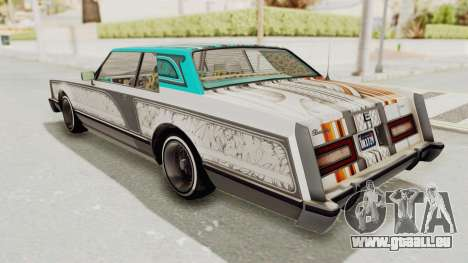 GTA 5 Dundreary Virgo Classic Custom v2 IVF pour GTA San Andreas salon