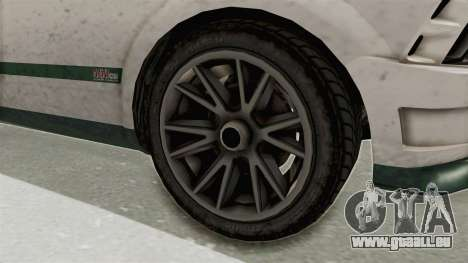 GTA 5 Vapid Dominator v2 SA Style pour GTA San Andreas vue arrière
