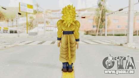 Dragon Ball Xenoverse Goku SSJ4 Golden für GTA San Andreas dritten Screenshot