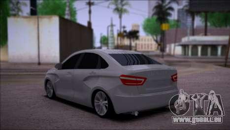 Lada Vesta Stock pour GTA San Andreas sur la vue arrière gauche