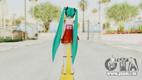 Project Diva F2nd - Hatsune Miku (Shrine Maiden) für GTA San Andreas dritten Screenshot