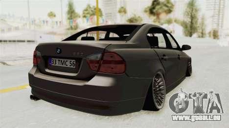 BMW 330i E92 Camber pour GTA San Andreas laissé vue