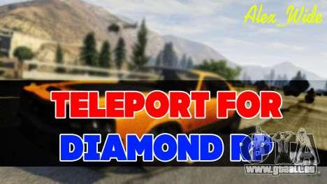 Se téléporter pour le Diamant RP pour GTA San Andreas