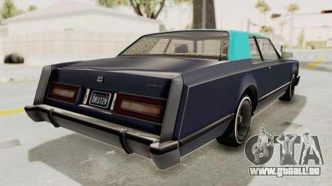 GTA 5 Dundreary Virgo Classic Custom v2 IVF für GTA San Andreas linke Ansicht