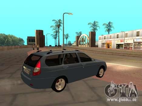 Lada Priora IVF pour GTA San Andreas laissé vue