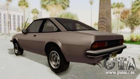 Vauxhall Cavalier MK1 Coupe pour GTA San Andreas sur la vue arrière gauche
