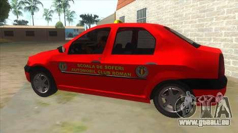Dacia Logan Scoala pour GTA San Andreas laissé vue