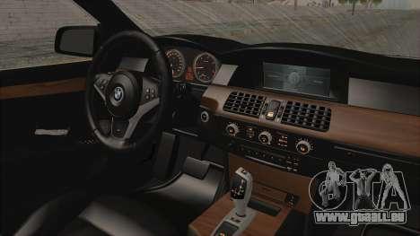 BMW 530D E60 pour GTA San Andreas vue intérieure