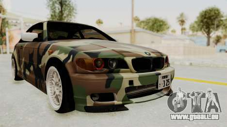 BMW 3 Series E46 pour GTA San Andreas sur la vue arrière gauche
