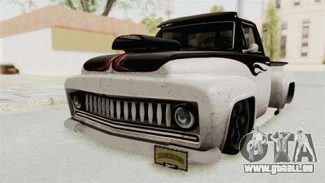 GTA 5 Slamvan Lowrider PJ1 für GTA San Andreas zurück linke Ansicht