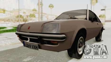 Vauxhall Cavalier MK1 Coupe pour GTA San Andreas vue de droite