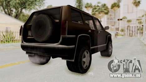 Landstalker from GTA 3 für GTA San Andreas zurück linke Ansicht