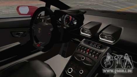 Lamborghini Huracan 2014 Stock für GTA San Andreas Innenansicht