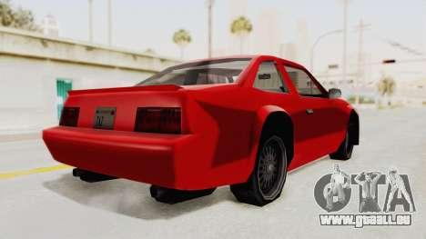 Imponte Centauro - Civil Hotring Racer A pour GTA San Andreas sur la vue arrière gauche