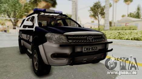 Toyota Fortuner JPJ White pour GTA San Andreas