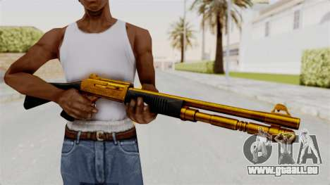 XM1014 Gold pour GTA San Andreas troisième écran