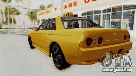 Nissan Skyline R32 4 Door Taxi pour GTA San Andreas laissé vue