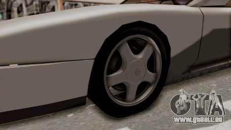Jester Supra pour GTA San Andreas vue arrière