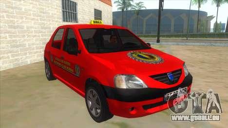 Dacia Logan Scoala pour GTA San Andreas vue arrière