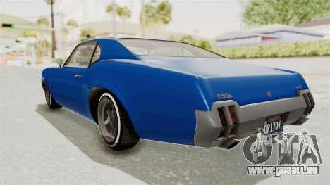 GTA 5 Declasse Sabre GT2 A pour GTA San Andreas laissé vue