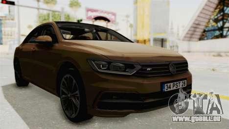 Volkswagen Passat B8 2016 RLine IVF pour GTA San Andreas vue de droite