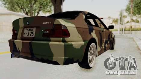 BMW 3 Series E46 pour GTA San Andreas laissé vue