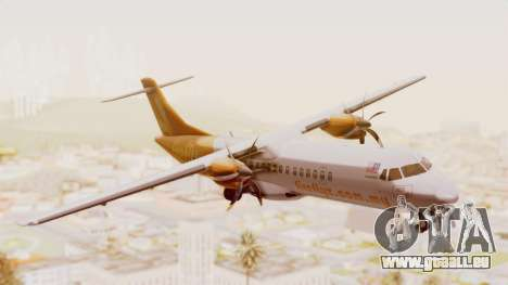 ATR 72-500 Firefly Airlines pour GTA San Andreas sur la vue arrière gauche
