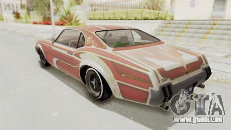 GTA 5 Declasse Sabre GT2 B für GTA San Andreas Innen