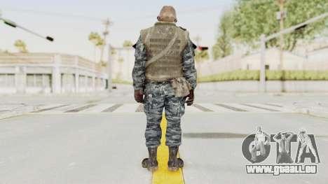 COD BO Russian Spetznas Flak MP v4 pour GTA San Andreas troisième écran