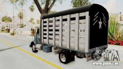 Kenworth T800 pour GTA San Andreas laissé vue