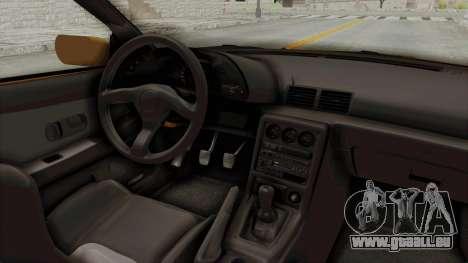 Nissan Skyline R32 4 Door Taxi pour GTA San Andreas vue intérieure