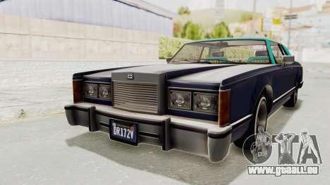 GTA 5 Dundreary Virgo Classic Custom v2 IVF für GTA San Andreas rechten Ansicht