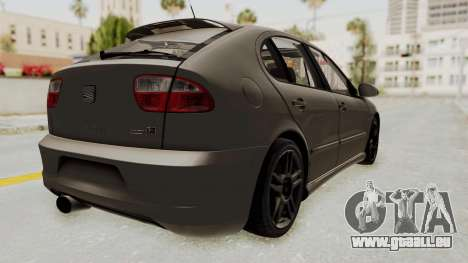Seat Leon CupraR 2003 pour GTA San Andreas sur la vue arrière gauche
