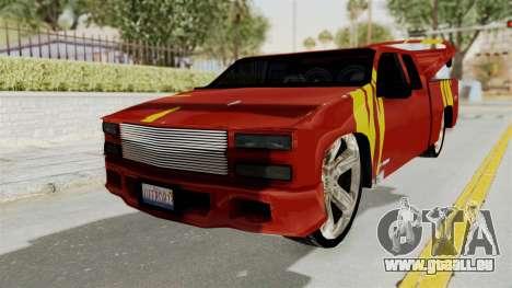 Mitsubishi Pajero Iraqi Pickup pour GTA San Andreas sur la vue arrière gauche
