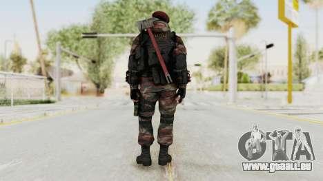Battery Online Russian Soldier 1 v2 pour GTA San Andreas troisième écran