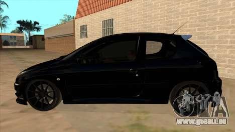 Peugeot 206 MO Edit pour GTA San Andreas laissé vue