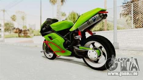 Ducati 998R Modif Stunt für GTA San Andreas linke Ansicht