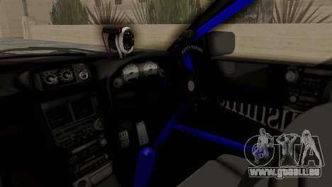 Nissan Skyline ER34 pour GTA San Andreas vue intérieure