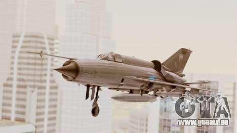 MIG-21 BIS de la Force Aérienne Argentine pour GTA San Andreas