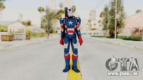 Marvel Heroes - Iron Patriot pour GTA San Andreas deuxième écran