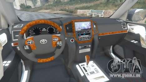Toyota Land Cruiser 200 2016 v1.1 pour GTA 5