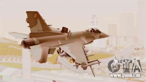 F-16A General Dynamics Chadian Air Force für GTA San Andreas linke Ansicht